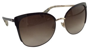 Kate Spade New Kate Spade OGSA B1 Gences Brown Gold Metal Sunglasses 135mm