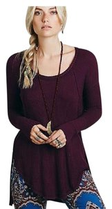 Free People Ventura Sz M Eggplant Nwot Sweater