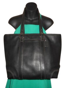 Coach Leather Large Tote in Black