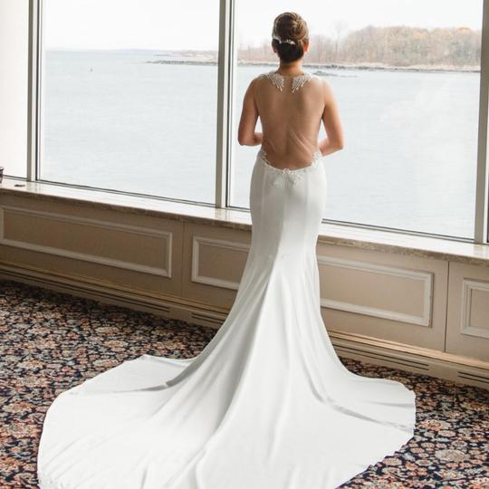Pnina Tornai Offwhite 2017 Love Collection Sexy Wedding Dress Size 4 (S) Image 3