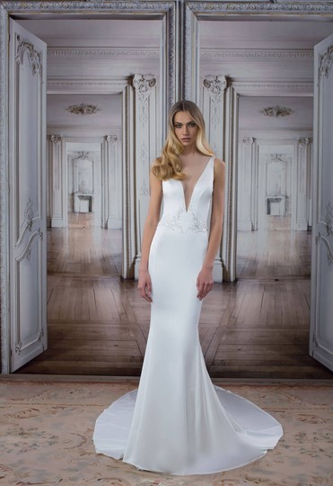 Pnina Tornai Offwhite 2017 Love Collection Sexy Wedding Dress Size 4 (S) Image 8