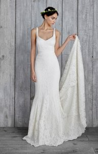 Nicole Miller Nicole Miller Janey Lace Gown Ivory Women's Sleeveless Bridal Dress Wedding Dress