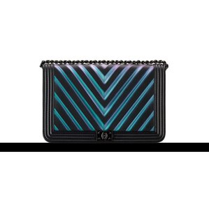 Chanel Iridescent Woc Chevron Limited Edition So Boy Cross Body Bag