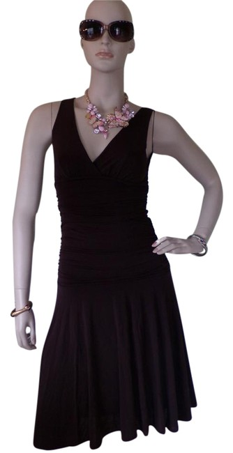 Item - Brown Jersey Mid-length Night Out Dress Size 0 (XS)