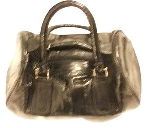 eel skin Vintage Genuine Tote/sachael Satchel in black