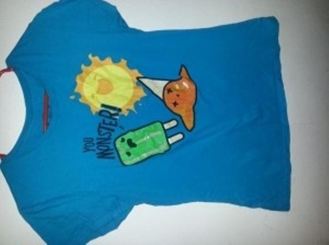 Other T Shirt bright blue