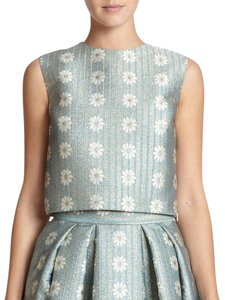 RED Valentino Crop Embroidered Floral Evening Tunic
