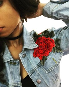 Other Rose Denim Womens Jean Jacket