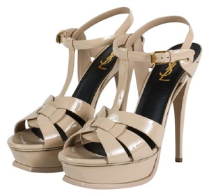 Saint Laurent Ysl Tribute Beige Nude Yellow Sandals