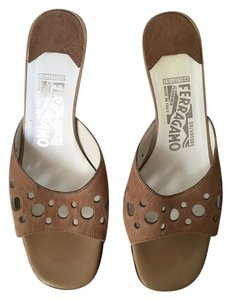Salvatore Ferragamo Tan Brown Pumps
