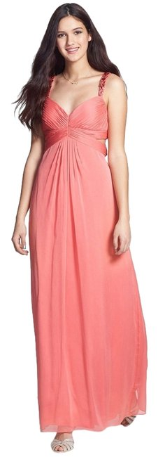 Preload https://item2.tradesy.com/images/aidan-mattox-pink-by-embellished-cutout-crinkled-chiffon-gown-long-cocktail-dress-size-6-s-2113636-0-0.jpg?width=400&height=650