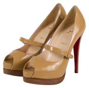 Christian Louboutin Mary Jane Louboutin Beige Nude Pumps