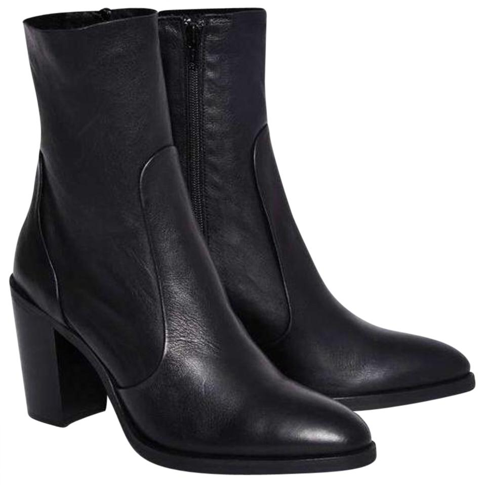 055f22cd6c9f Nasty Gal Black Genuine Leather Crosswalk Pico Pointed Toe Ankle Boots /Booties