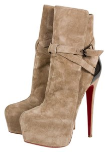 Christian Louboutin Equestria Louboutin Suede Taupe Boots