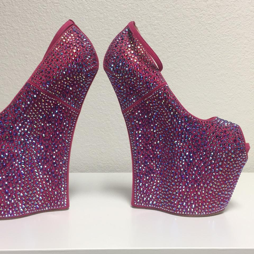 Pink Crystals Wedges