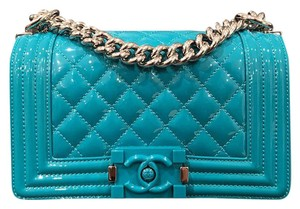 77fe180090a9 Chanel Boy Le Boy Patent Leather Turquoise Cross Body Bag