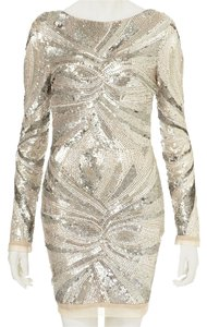 Topshop Beaded Longsleeve Limited Edition Scoop Back Sequin Dress