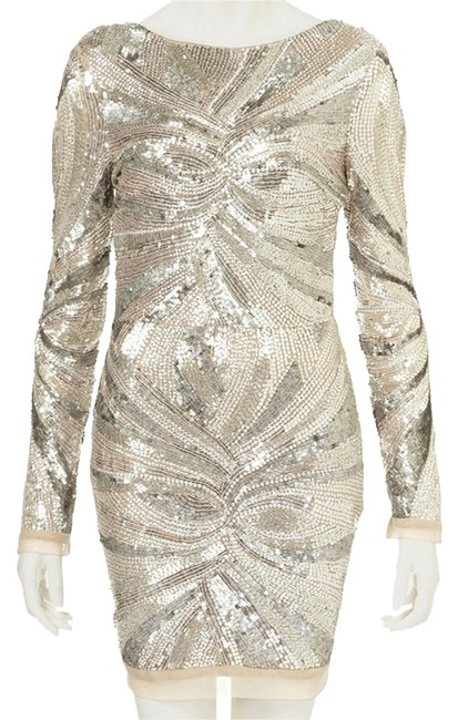 Item - Silver Limited Edition Short Cocktail Dress Size 6 (S)