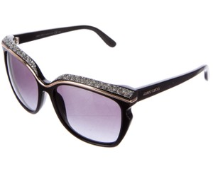 Jimmy Choo Black acetate Jimmy Choo Sophia crystal embellished sunglasses
