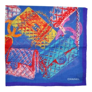 Chanel NEW CC COTTON scarf