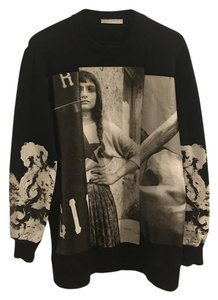 Givenchy And White Leather Luxurious Unique High Fashion Sweatshirt