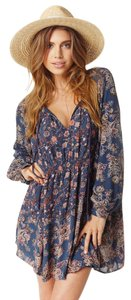 Free People short dress indigo combo on Tradesy