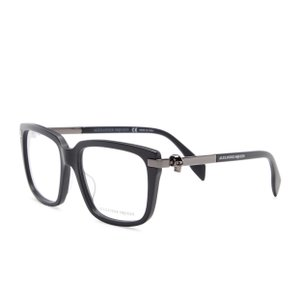 Alexander McQueen Women's Square Skull Stud Optical Eye Glasses