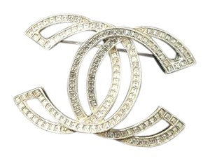 Chanel Chanel brooch crystal silver