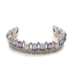 Alexis Bittar Crystal Lace Stone Cuff Bracelet