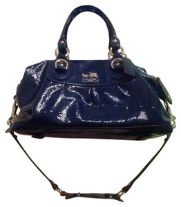 Coach Patent Leather Satchel in Blue
