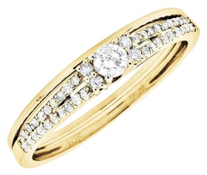 Other Ladies Round Diamond Solitaire Bridal Engagement Ring Set 0.25Ct