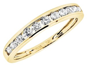Other Ladies 1 Row Invisible Set Real Diamond Wedding Ring Band 0.50Ct