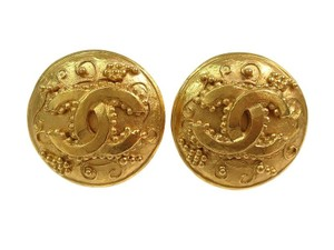 Chanel CHANEL C C Gold-Plated Earrings