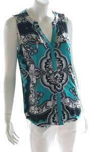 INC International Concepts Top turquoise black