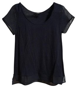 Lucky Brand Cotton Silk T Shirt Dark blue