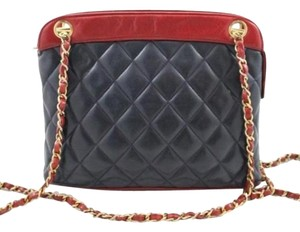 Chanel Matelasse Bycolor Lambskin Shoulder Bag