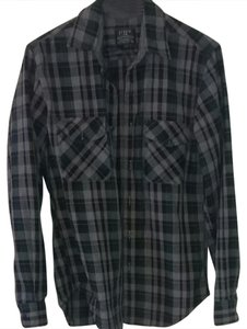 J.Crew Button Down Shirt Grey/green plaid