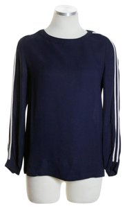 J.Crew Long Sleeve Woven Top Blue