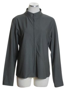 Eileen Fisher Long Sleeve Knit Zipper Gray Jacket