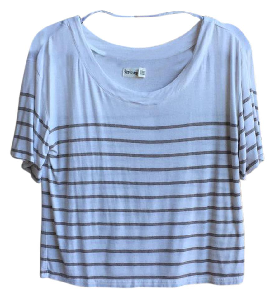 67d41d5aaf byCorpus Cream Tan Striped Tee Shirt Size 8 (M) - Tradesy