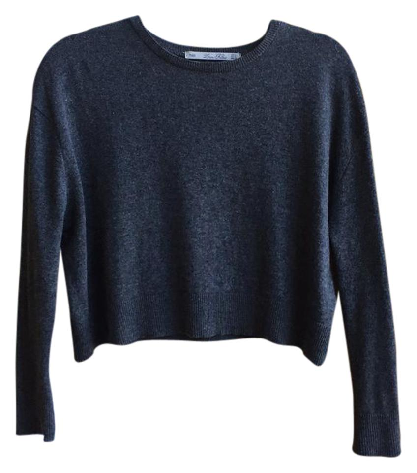 e9ac0806 Zara Cropped Angora Gray Sweater - Tradesy