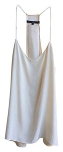 Tibi Silk Tank Blouse Top Cream