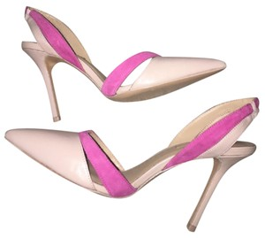 BCBGMAXAZRIA Tan and Pink Pumps