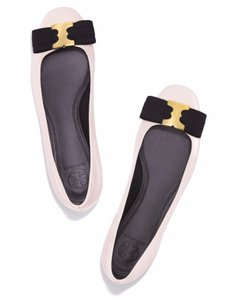 Tory Burch Summer Work Office Gemini Link White Black Flats