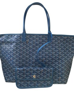 Goyard Leather Tote in Blue