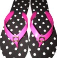 Kate Spade black hot pink Sandals