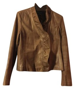 INC International Concepts light brown Leather Jacket