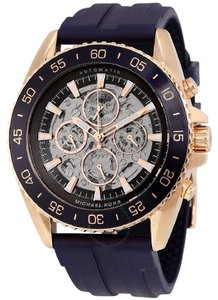 Michael Kors Michael Kors men's Automatic JetMaster Navy Silicone Watch MK9025