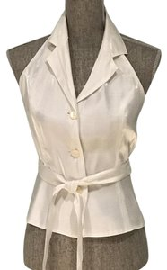 The Limited Dressy Size Small Shiny White Halter Top