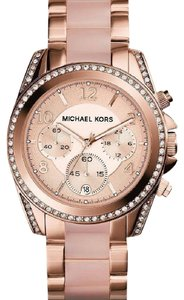 Michael Kors Michael Kors Women's Rose Gold-Tone Blair Glitz Watch MK5943